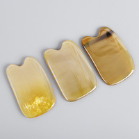 Comb Yue Natural Ox Horn Scraping Piece White Yak Skull Massage Board Hand made Mini Portable Scraping Plates Wholesale