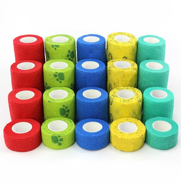 4Pcs Waterproof Medical Therapy Self Adhesive Bandage Muscle Tape First Aid Kit Bandage 2.5-10cm