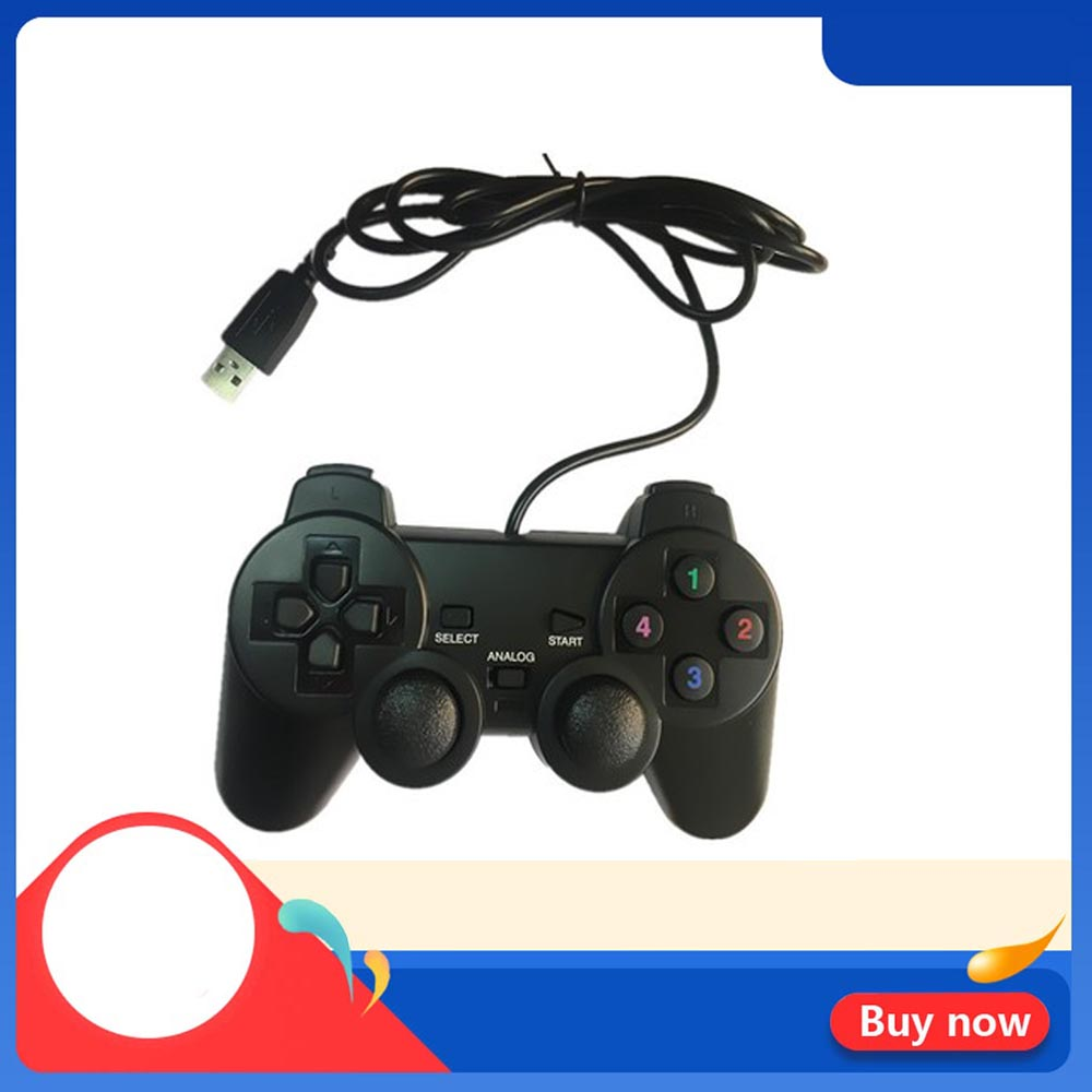 PS2 Wired USB Black Gamepad Joystick Joypad Game Controller For PC/WinXP/WIN7/WIN8/WIN10