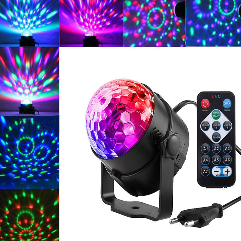 3W 220V LED RGB Rotating Magic Ball Stage Light Projecting Lamp For Disco Party Festival Wedding Decoration Charming Dreamy