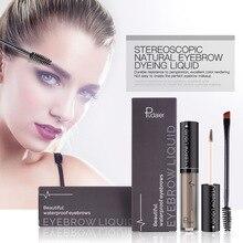 4 Color Eyebrow Tint Makeup Waterproof Eyebrow Pomade Gel Enhancer Cosmetic Eye Makeup Eye Brow Cream with Brush Professional