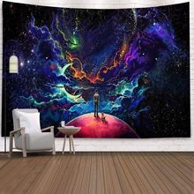 Starry Sky Psychedelic Wall Hanging Tapestry Boho Hippie Wall Cloth Tapestry Yoga Mat Mandala Wall Tapestry Carpet Home Decor cityscape printed mandala tapestry wall hanging home bed decor hippie polyester letter motto tapestry beach throw towel yoga mat