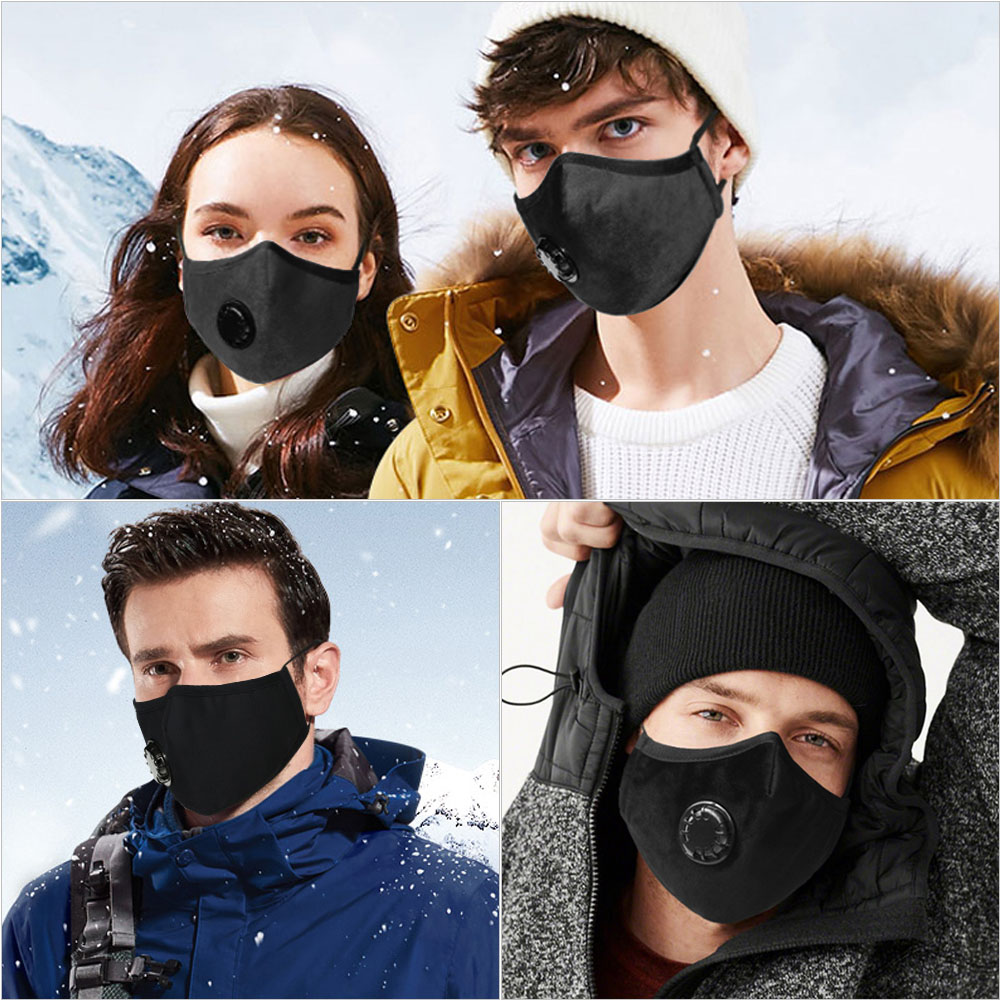 Adults PM2.5 Haze Mask Breath Valve Anti-dust Mouth Mask Breathable Respirator For Outside Women Men Safety Face Mask