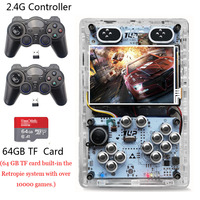 3.5 Inch Screen Video Game Consoles 64GB HDMI Output Raspberry Pi 3 B+ Handheld Retro Game Player Pi Boy Built in 10000 games