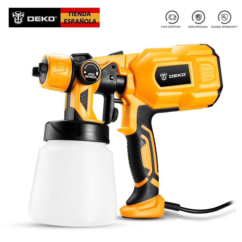 DEKO DKCX01 Spray Gun 550W 220V High Power Home Electric Paint Sprayer 3 Nozzle Easy Spraying And Clean Perfect For Beginner