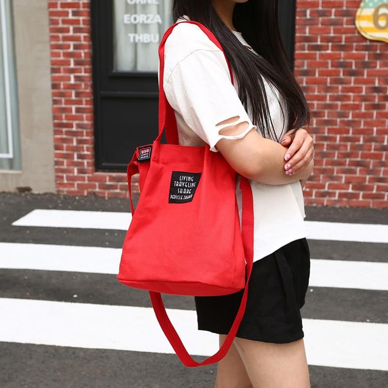 Fashion Women'S Canvas Handbag Shoulder Bag Tote Purse Cute Travel Bucket Bag