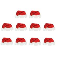 10Pcs/lot Christmas Santa Hat Wine Glass Decoration Stylish and cute,Perfect for the party