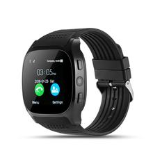 T8 Bluetooth Smart Watch Support SIM TF Card With Camera Sports Wristwatch Music Player Sports Watch for IOS for Android(China)