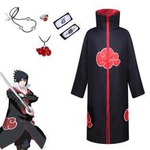 Japanese Anime Cosplay Costume Sasuke Uchiha Ninja Itachi Akatsuki Cloak Robe Halloween Carnival Men Women Stage Clothes