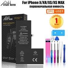 PINZHENG Bateria telefonu o dużej pojemności dla iPhone X XR XS Max wymiana baterii dla iPhone X XR XS Max Bateria z narzędziami