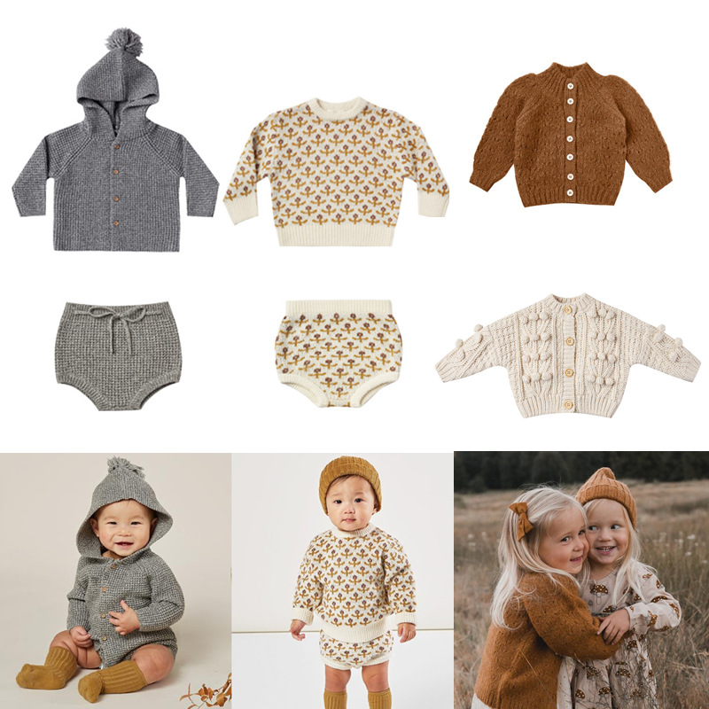 Kids Wool Sweaters 2020 RC Brand New Autumn Winter Boys Girls Fashion Knit Cardigan Baby Children Cotton Outwear Tops Clothes 1