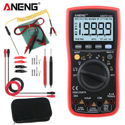 ANENG AN870 cyfrowy multimetr profesjonalny Tester true rms woltomierz amperomierz ERS kondensator Tester próbnik elektroniczny z termoparą|Mierniki wielofunk.|Narzędzia -
