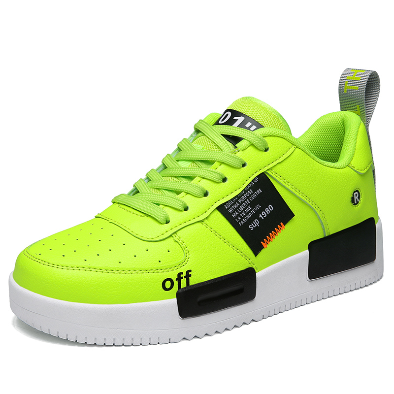 New Selling Yellow Sneakers Ys Men Casual Shoes Brand Off White Leisure Shoes Force Zapatos De Hombre Training Basketball Shoes