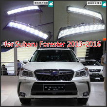 2Pcs/Pair SUNKIA Daylight Fog Lamp Car LED Daytime Running Light Black Cover DRL for Subaru Forester 2013 2014 2015 2016