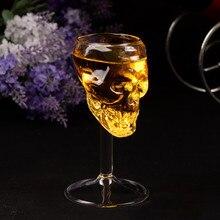 Прозрачная бутылка для пивного Вина Стеклянный Череп бокал для красного вина трезвые кухонные аксессуары высокие Коктейльные бокалы бар украшения d2