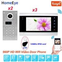 TuyaSmart App Remote Control WiFi IP Video Door Phone Video Intercom 2 3 Access Control System Waterproo Code Keypad RFID Card