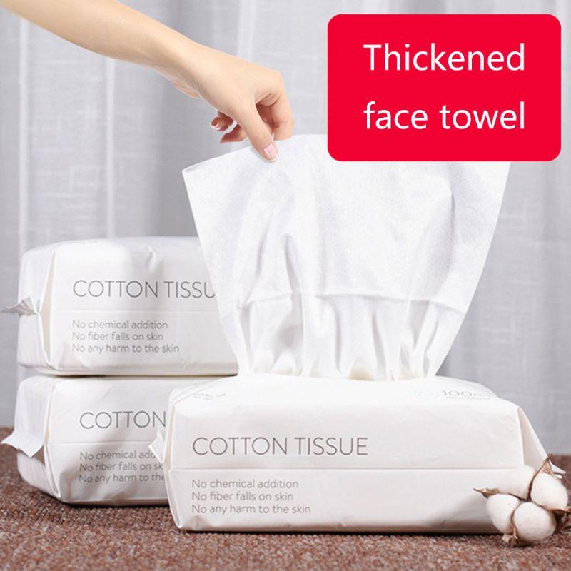 50/100pcs Disposable Face Towel Travel Cotton Makeup Wipes Facial Cleansing Cotton Tissue #11