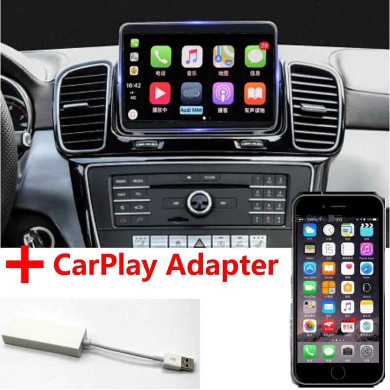 Автомобильный мультимедийный плеер Liandlee NAVI CarPlay, адаптер для Mercedes Benz MB M GLE ML W166 2011 ~ 2018, автомагнитола с GPS навигацией