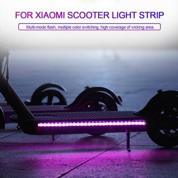 Lampe de barre de lampe de poche de bande de LED pliable pour Xiaomi Mijia M365 Scooter électrique planche à roulettes nuit vélo sécurité lumière décorative