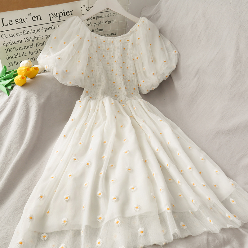 2020 Summer Embroidery Floral Ball Gown Dress Lady Dress AS0066