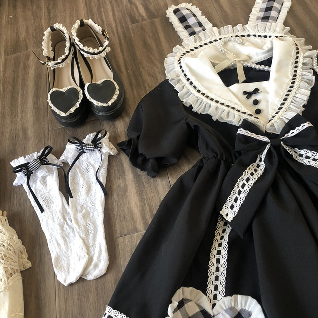 Купить готическое винтажное платье лолиты с матросским воротником и картинки цена