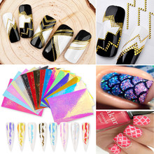 Water Transfer Sticker Nagels Stickers Slider 3D Decoratie Voor Manicure Vlam Nail Stickers Water Decals Nails Folies(China)