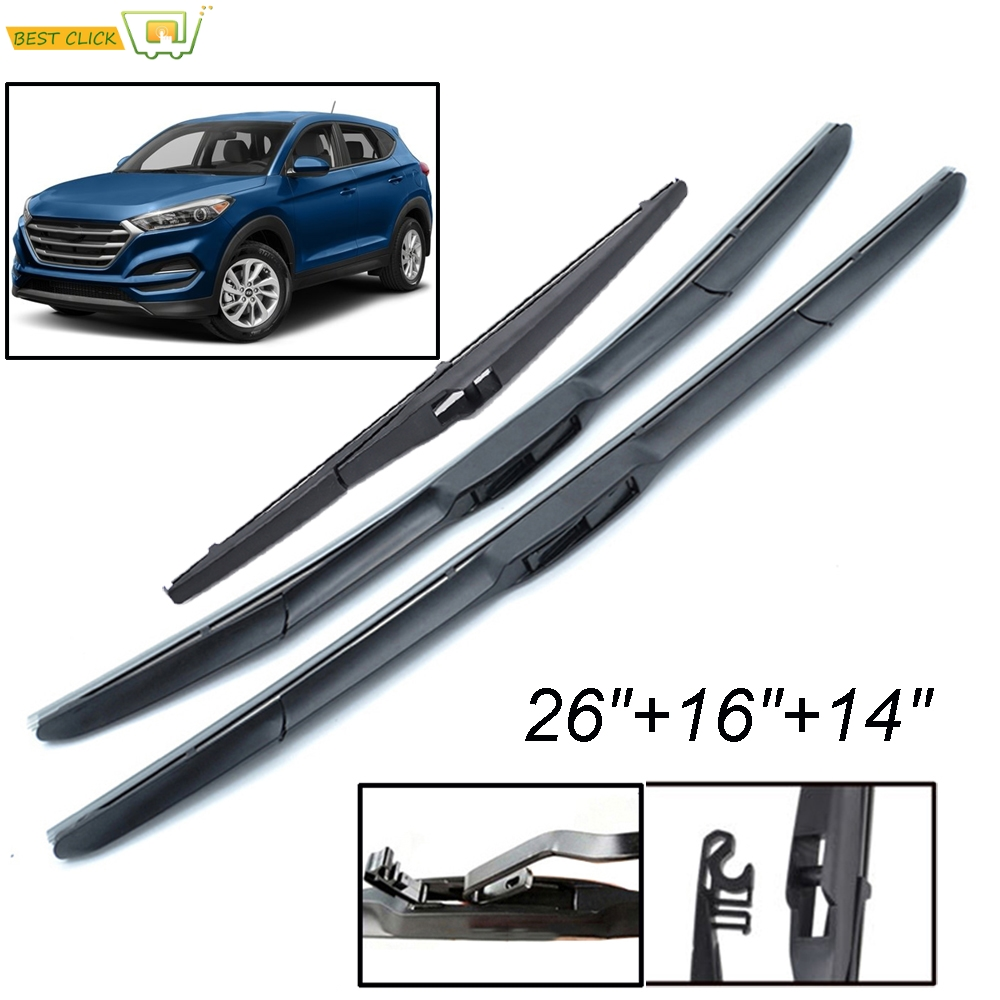 """HYUNDAI TUCSON 2015-ON rear wiper blade replacement 14/"""" 350mm quality direct fit"""