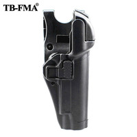 FMA Tactical 1911 Holster Military Gun Holster Hunting Concealment Level 3 Lock Right Waist Belt Pistol Holster for Colt 1911