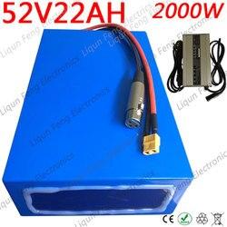 Batterie Lithium, 51.8V, 1500/2000W, 52 V, 22ah, pour vélo électrique Ebike, avec système BMS 50a et chargeur, livraison gratuite