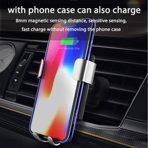 Image 2 - Mcdodo רכב צ י אלחוטי מטען עבור iPhone XR XS מקסימום 8 הכבידה מחזיק מהיר טעינה אלחוטי אוויר Vent הר עבור רכב טלפון מטען
