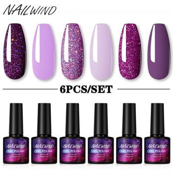 NAILWIND Gel Polish Set 4/6Pcs Hybrid Varnish Soak Off UV Gel LED Semi Permanent All For Manicure Nail Art Gel Polish Kit 1