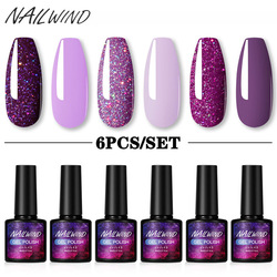 NAILWIND Gel Polish Set 4/6Pcs Hybrid Varnish Soak Off UV Gel LED Semi Permanent All For Manicure Nail Art Gel Polish Kit