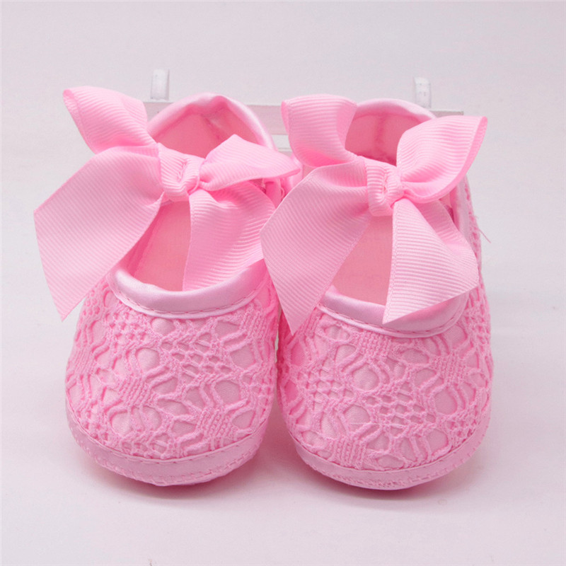 Baby Shoes Footwear First-Walker Newborn All-Seasons Soled Non-Slip Cotton 5 Bowknot