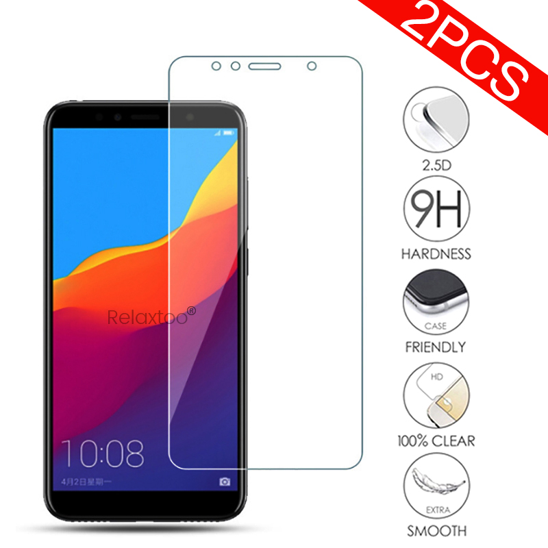 2pcs Honor 7c Glass Tempered Glass For Huawei Honor 7a 7c Pro Screen Protector Glasses On Honer Honar Honr 7apro 7cpro A7 C7 Pro
