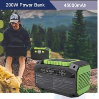 Portable 200W Power Bank 45000mAh High Capacity Solar Panel Wall Socket Power Station For Laptops Phones Tablets Cameras Drones
