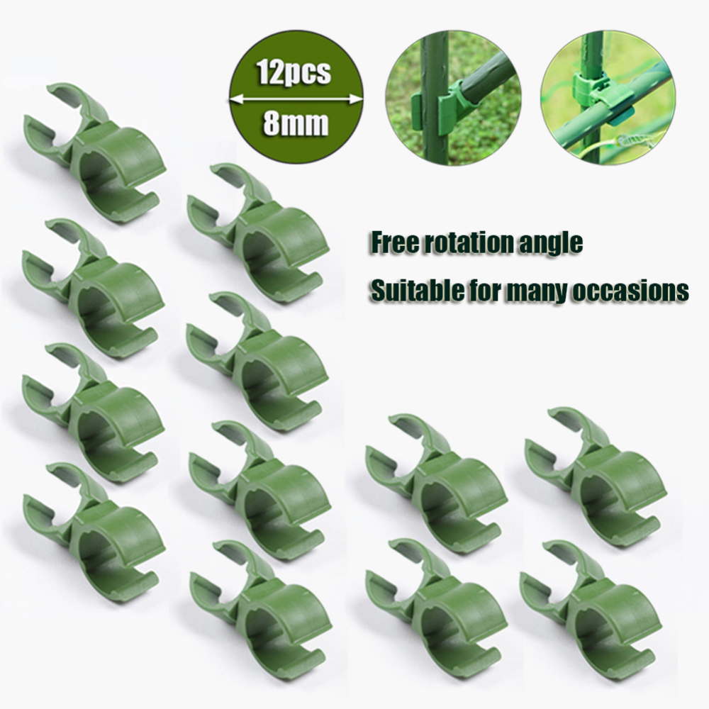 12Pcs Home Connector Bracket Parts Greenhouse Film Buckles Universal Clip Garden Rotatable Fastener Sunshade Net Tools