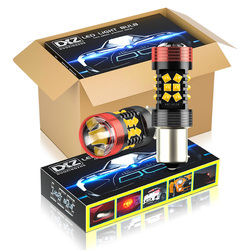 DXZ 10pcs Canbus 1156 S25 BA15S P21W LED 30-SMD 1200LM 12V Car LED Turn Signal Reverse Brake Light Bulb BAU15S PY21W Lens LED