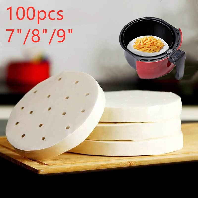 7inch/8inch/9inch 100pcs Air Fryer Pads Air Fryer Accessories For Gowise Phillips Cozyna Secura Fit All Airfryer 3.7 to 5.8QT