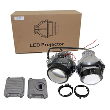 9-16V SHUOKE  Car LED Double Projector Lens High/Low Beam 2.5 Inch 2800 LM With One Pair Ballast