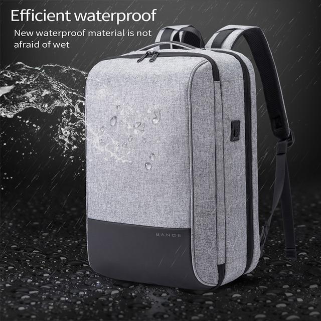 Bange Men Multifunction Waterproof USB charging Backpack Anti-thief TSL lock 15.6inch Laptop Backpacks Teenager Fashion Backpack 2