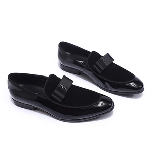 Image 2 - Luxury Gorgeous Mens Wedding Loafers Patent Leather Suede Shoes Mens Party Dinner Dress Casual Shoes Summer Shoes for Men