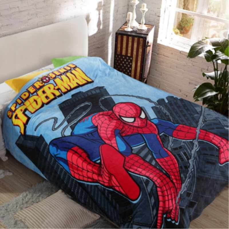 Student Kids Spiderman Duvet Cover/Boys Hero School Single Bed Quilt Cover/Children Doraemon Winter Twin Size Beddings