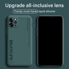 Ultra-Dunne Leuke Zachte Vloeibare Siliconen Telefoon Case For A Iphone 12 11 Pro Se Xs Max Xr Xs X 8 7 6 Plus Luxe Geschilderd