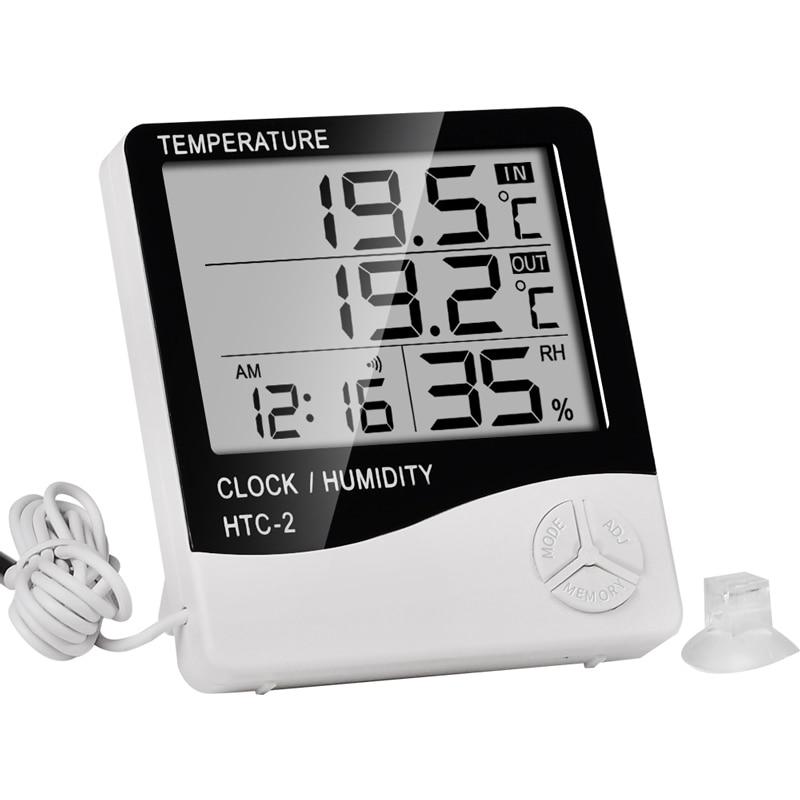 Termometr cyfrowy Higrometr Termometr zewnętrzny Cyfrowe termometry - Przyrządy pomiarowe - Zdjęcie 2