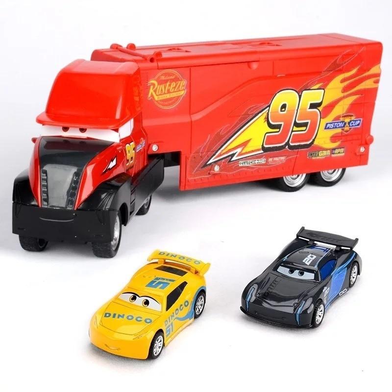Disney Pixar 3 Lightning Mcqueen Jackson Storm Cruise Matt Mark Uncle Truck 1 55 Metal Die Cast Car Model Boy Toys in Diecasts Toy Vehicles from Toys Hobbies