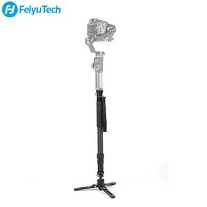 Image 2 - FeiyuTech karbon Fiber kamera Monopod 4 Section çok fonksiyonlu Video Monopod tabanı için tasarlanmış DSLR kameralar/Gimbal sabitleyici