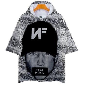 Prawdziwa muzyka NF z kapturem T Shirt chłopcy i dziewczęta raper Nathan Feuerstein bluza z kapturem koszulka Hip Hop z krótkim rękawem Tshirt Tee ubrania