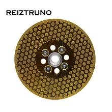 """REIZTRUNO 5 """"Doppelseitig Marmor Diamant Klinge mit Quad Adapter Galvani kontinuierliche Turbo Klinge für schneiden gestaltung marmor"""