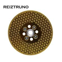 """REIZTRUNO 5 """"dwustronne ostrze diamentowe do marmuru z adapterem Quad galwanicznie ciągłe ostrze do cięcia Turbo kształtujące marmur"""