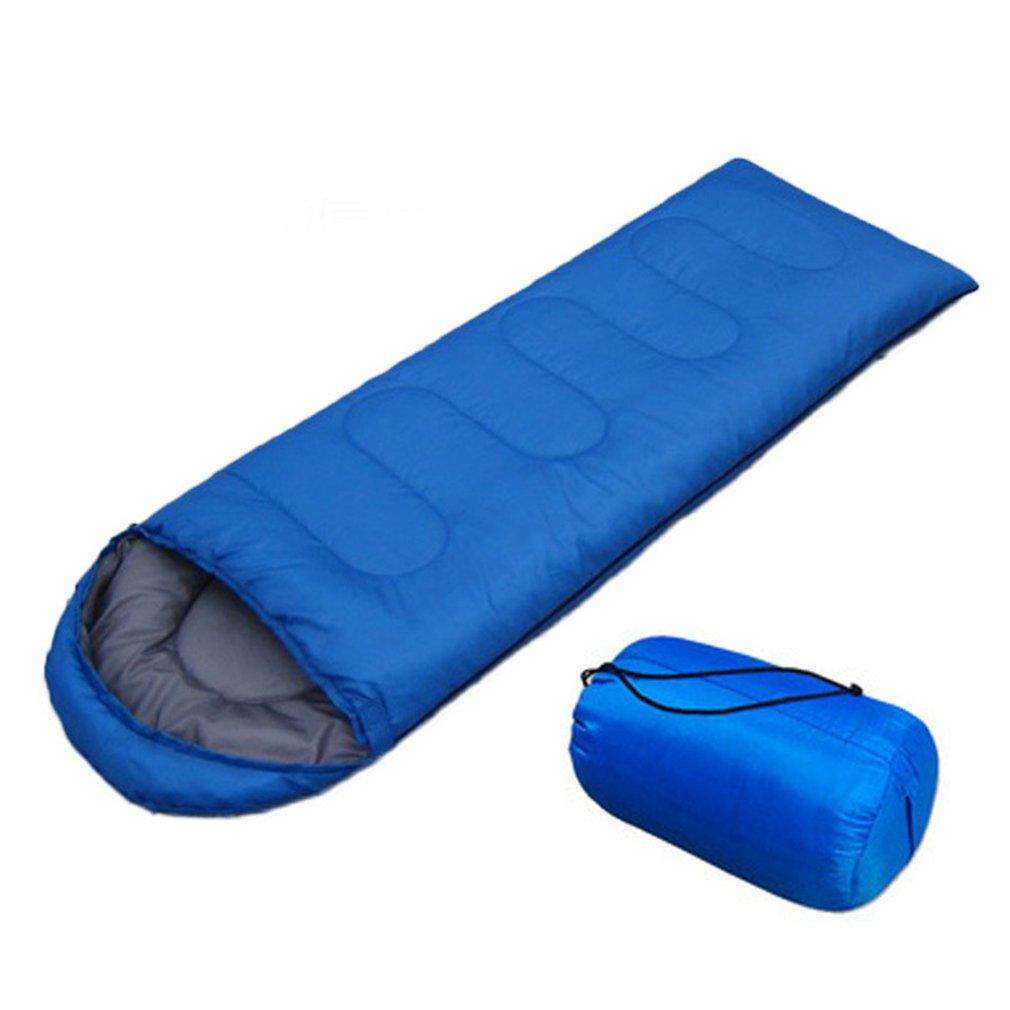 Конверт для отдыха на природе, спальный мешок для взрослых, портативный ультра-светильник, водонепроницаемый спальный мешок для путешествий и пеших прогулок с колпачком - Цвет: Синий